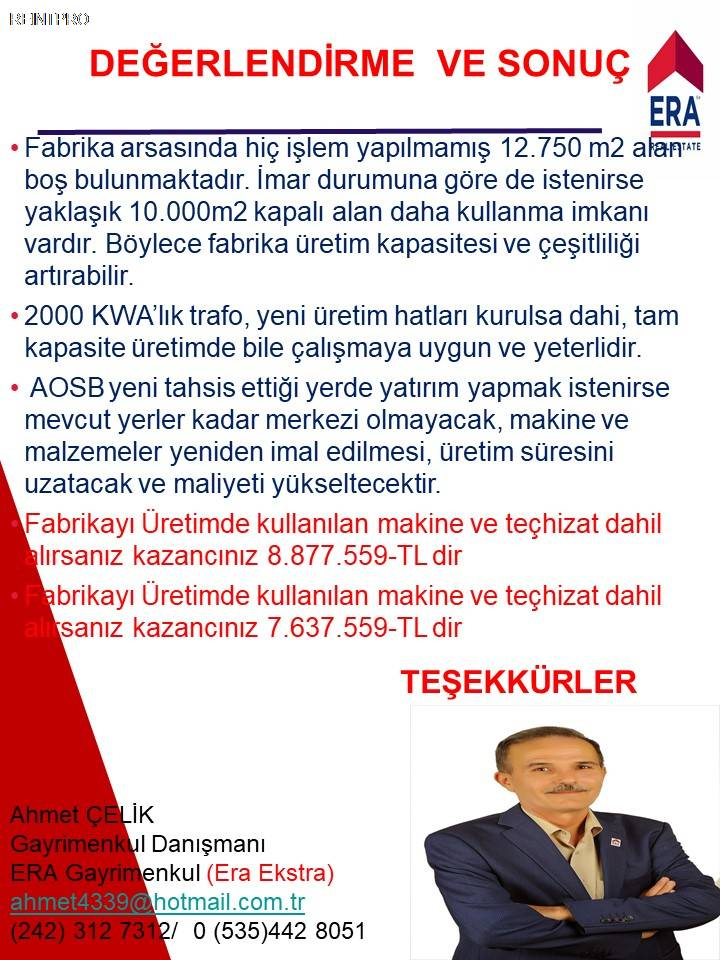 Manufacturing Facility FOR SALE Türkiye Antalya DÖŞEME ALTI Real Estate Agents $374000011