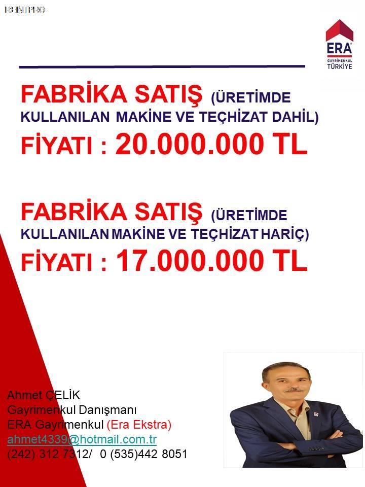 Manufacturing Facility FOR SALE Türkiye Antalya DÖŞEME ALTI Real Estate Agents $37400002
