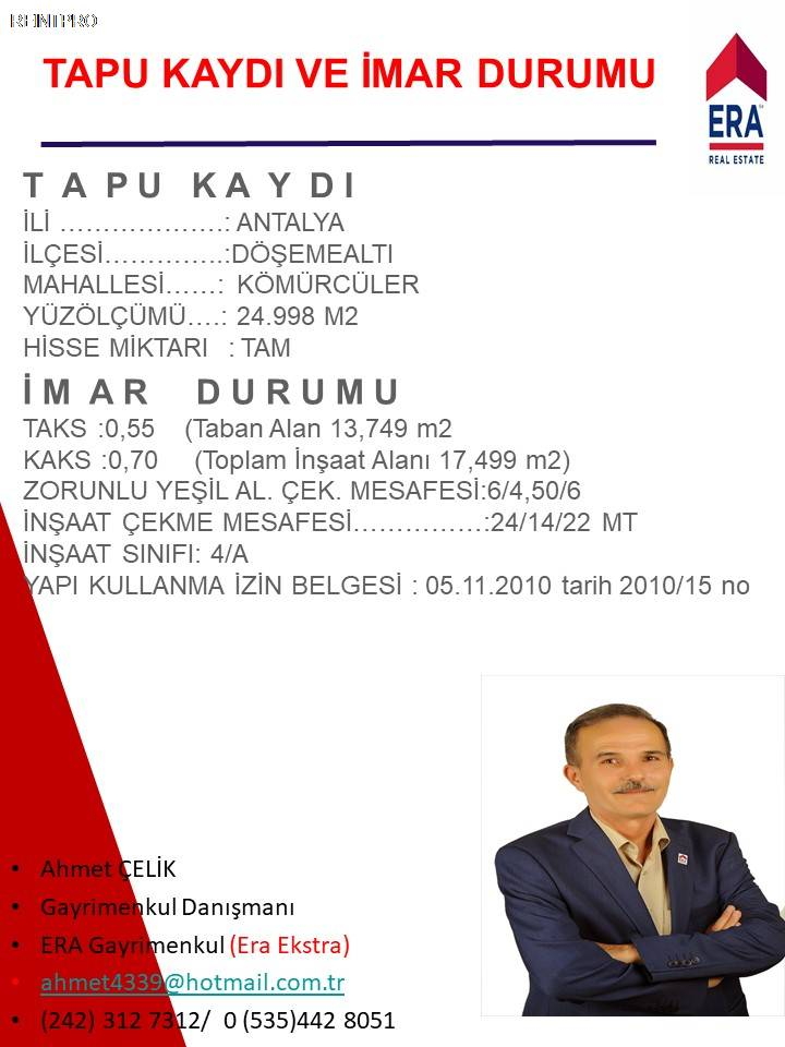 Manufacturing Facility FOR SALE Türkiye Antalya DÖŞEME ALTI Real Estate Agents $37400004