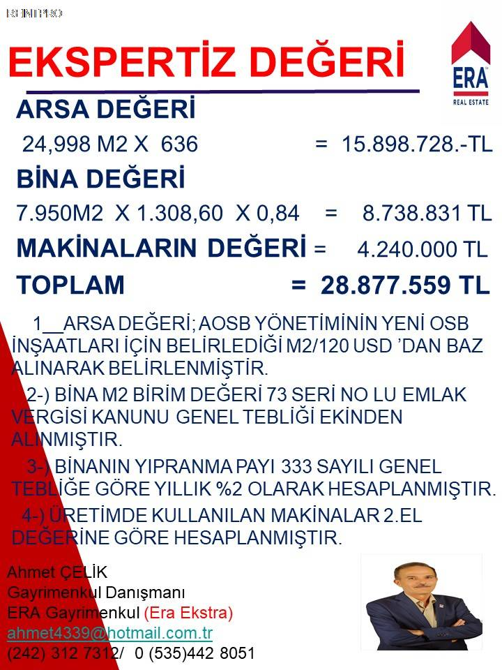 Manufacturing Facility FOR SALE Türkiye Antalya DÖŞEME ALTI Real Estate Agents $37400005