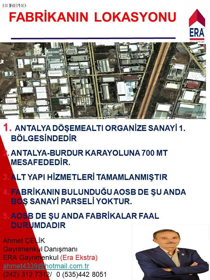 Manufacturing Facility FOR SALE Türkiye Antalya DÖŞEME ALTI Real Estate Agents $37400003