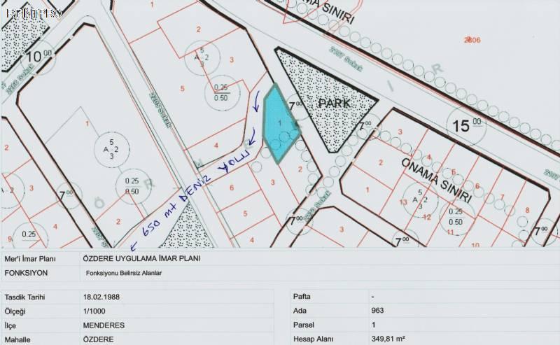 Land FOR SALE Türkiye Izmir çukuraltı, özdere, menderes, izmir Property Owner $800001