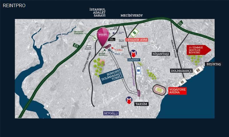Residence FOR SALE Türkiye Istanbul Bomonti Construction Companies $1450007
